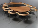 Vibeke Maj Magnussen and Claus Boye Petersen. Conference table with 14 chairs, Inigo Design