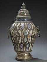 Stor lågkrukke af keramik, Marokko, 18/1900-tallet
