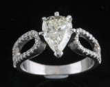 Ring in 18k set with diamonds  1.84 ct