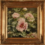 Anthonore Christensen. Flowering peonies, oil on canvas