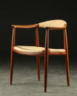 Hans J. Wegner. Armstol af teak 'The chair', Johannes Hansen