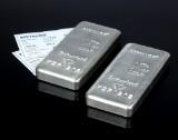 Metalor, Switzerland. Et par 1 kg, sølvbarre (2)