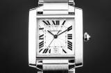 Cartier Tank Française men's watch, steel, ref. 2302
