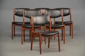designer stole danske Slutpris för Seks stole, dansk design, teak designer stole danske