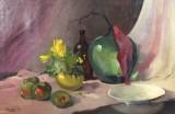 W. Jansen, Öl auf leinwand, Stillleben mit Äpfeln