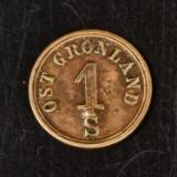 Østgrønland, A. Gibbs & Sons, 1 skilling 1863, Sieg 8 - særdeles sjælden