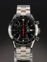 Tag Heuer 'Carrera Calibre 16'. Men's chronograph, steel, certificate 2014