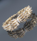 Giovanni Varona. Vintage diamond bracelet, 18 kt. gold and white gold, total approx. 2.50 ct. Weight approx. 51.6 g. Valenza, 20th century-second half