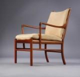 Ole Wanscher. Lænestol 'Colonial Chair' af mahogni model PJ149