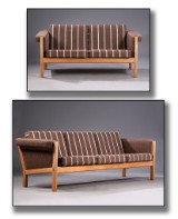 Hans J. Wegner. Sofa set, oak, Getama, model Ge-40 (2)