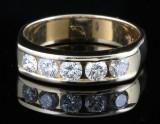 14kt diamond half eternity ring approx. 1.00ct