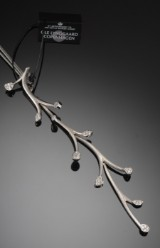 Ole Lynggaard. Kvist diamond pendant, with silk cord