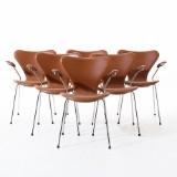 Stolar Sjuan design Arne Jacobsen
