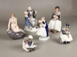 Kgl. og B&G, figurer, porcelæn (6)