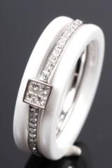 Ceramic Collection. Samlering m/ diamanter, 14 kt rhodineret guld (3)