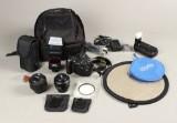 Nikon D90 digital spejlreflekskamera, Nikkor 50mm, f/1.4 samt 35mm, f/1.8 m.m.