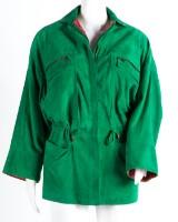 Gianni Versace Lederjacke, aus der  1. Kollektion, hellgrünes Leder mit Seidenfutter