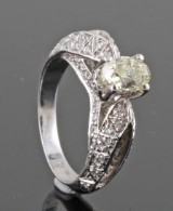 Diamond ring in 18kt approx. 1.54ct by Kapriss jewelery