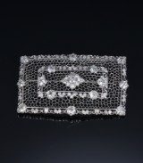A vintage diamond brooch, platinum, total approx. 4.60 ct. 20th century-first part
