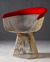 Warren Platner, wire chair/lounge chair model 1725A for Knoll International