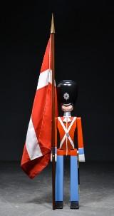 Kay Bojesen. Guard with flag, large model