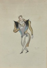 Jean (Ivan) Pougny (Puni), watercolour, 'Herr in galanter Pose'