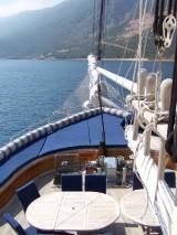 8 dages kystkrydstogt langs med den tyrkiske kyst (Fethiye-Göcek-Fethiye) på PREMIUM 3-masteren MS Admiral eller Grand Admiral med helpension for 2 personer, Rejsetidspunkt: 25.04.15