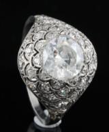 Platinum diamond ring approx. 2.00ct