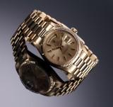 Rolex Day-Date. Herreur i 18 kt. guld med champagnefarvet skive, ca. 1970