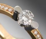 Brilliant-cut diamond ring, 0.70 ct.