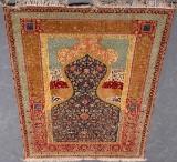 Tyrkisk Kayseri med Guld Tråd 190 x 120 cm
