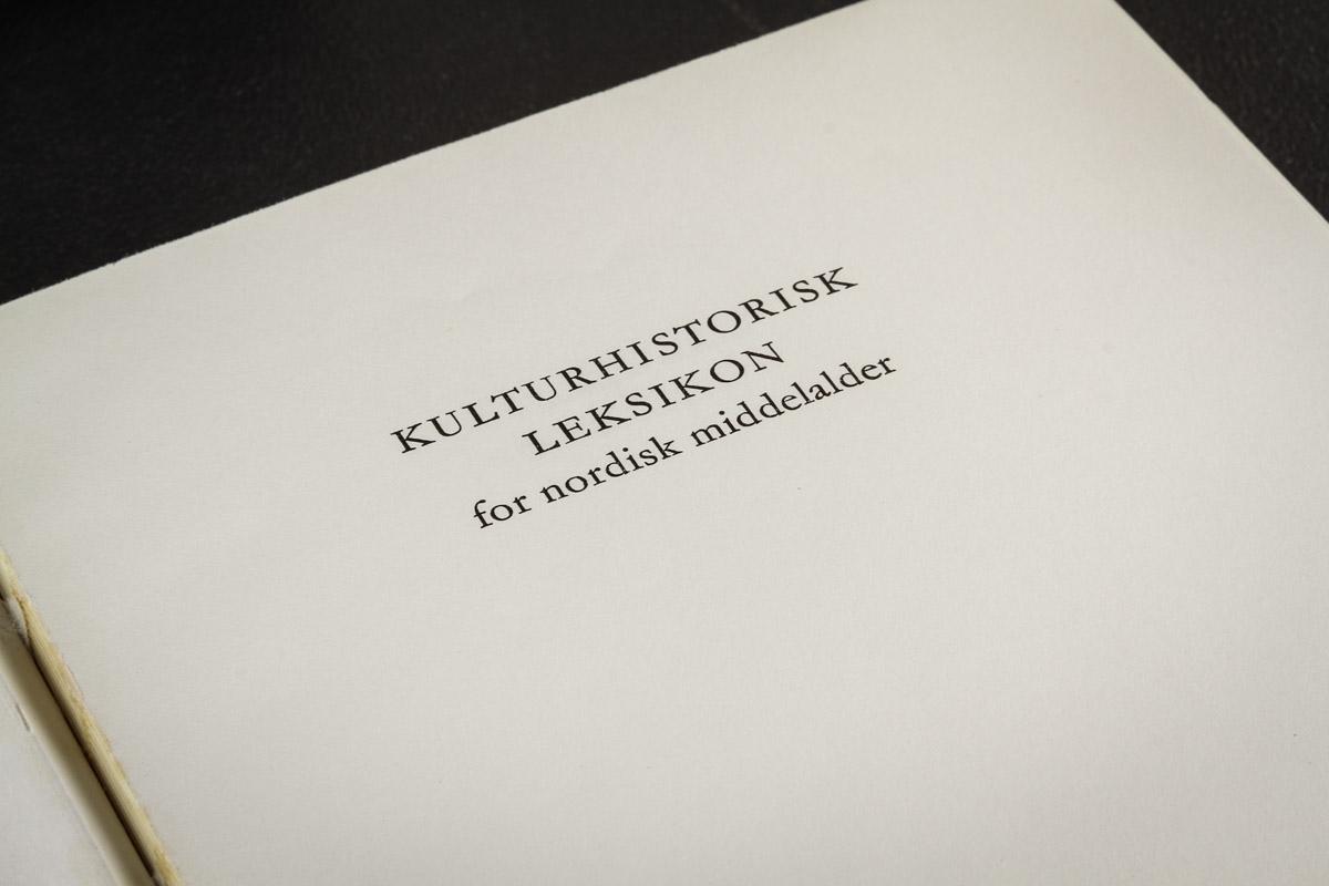 Kulturhistorisk leksikon for nordisk middelalder online dating