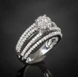 Diamond ring, approx. 1.29 ct.