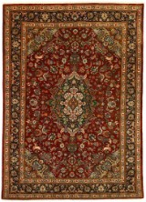 A hand-knotted Persian carpet, wool and silk, Tabriz, 203 x 154 cm