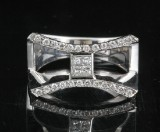 Diamond ring in 18kt approx. 0.64ct