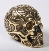 Robbi Jones: 'Skull' /kranium i poleret messing