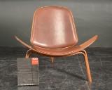 Hans J. Wegner. Shell chair, CH 07 - anniversary model - Zebrano veneer