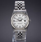 Rolex 'Datejust'. Vintage men's watch, steel, with silver-coloured dial, c. 1961