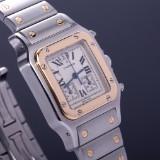 Cartier 'Santos Chronoflex'. Herrearmbåndsur, 18 kt. guld og stål med dato