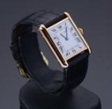 Cartier Tank, men's watch, 18 karat gold