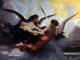Ubekendt kunstner. Motiv med engle, 21. årh.