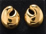 Kurt Nielsen, par ørestikker model Sea Shell, forgyldt sterling sølv