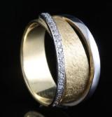 18kt håndlavede diamant ring ca . 0.11ct <br>