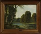 G. E. Libert, olie på lærred, landskabsparti
