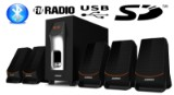 Surround Sound 3D 5.1 System - Alongza m/ Bluetooth.