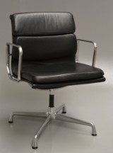 Charles Eames. Armchair, model EA 208 'Full Leather'