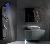 Brusepanel med massage, LED lys