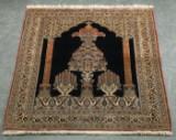 Persian Qum silk rug, 158x109 cm