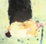 Erdmute Prautzsch, 'Akt und schwarz', 1994. Acryl