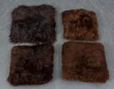 Fire puder af skandinaviske lammeskind (4)